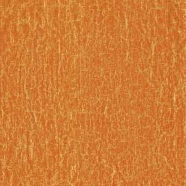 Feuilles décopatch orange craquelé or