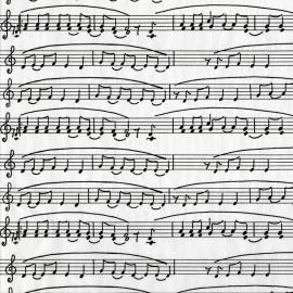 Feuilles décopatch blanc note de musique noir