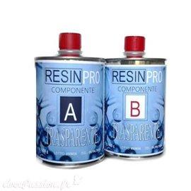 Résine ResinPro époxy transparente type effet eau 320gr en 2 flacons