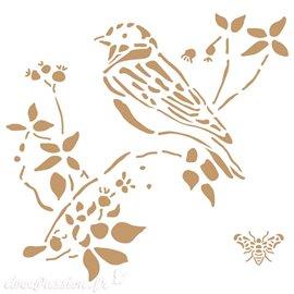 Pochoir décoratif Birds