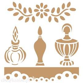 Pochoir décoratif trois parfums 20x20cm