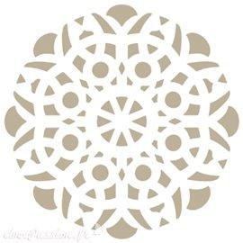 Pochoir décoratif Adamascado Mandala 18x18cm