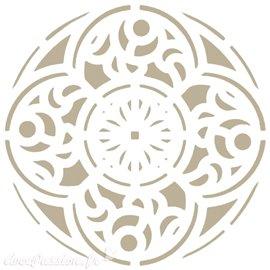 Pochoir décoratif Adamascado 028 Mandala 18x18cm