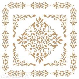 Pochoir décoratif Adamascado 092 20x20cm
