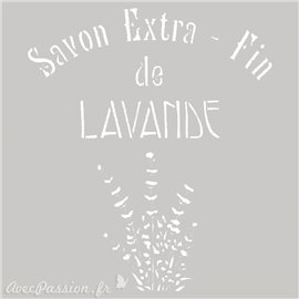 Pochoir décoratif Savon Extra 20x20cm