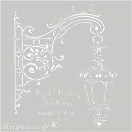 Pochoir décoratif Street Lighting 20x20cm