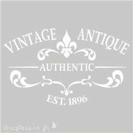 Pochoir décoratif Vintage Antique 20x20cm