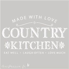 Pochoir décoratif Country Kitchen 20x20cm ou 25x25cm