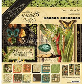 Papier scrapbooking Graphic 45 Nature Notebook Deluxe collection assortiment 30x30
