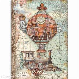 Papier de riz Sir Vagabond Vintage travel Stamperia A4