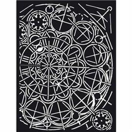 Pochoir décoratif Sir Vagabond géométrie 15x20cm Stamperia