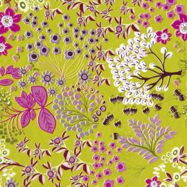 3 Feuilles décopatch vert fleurs nature arbre fleurs violet rose