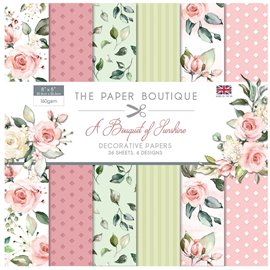 Papier scrapbooking Paper Boutique A Bouquet of Sunshine 20x20 Décorative Papers