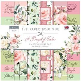 Papier scrapbooking Paper Boutique A Bouquet of Sunshine 20x20 Embellissements pad