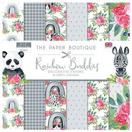 Papier scrapbooking Paper Boutique Rainbow Buddies 20x20 Embellissements pad