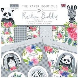 Papier scrapbooking Paper Boutique Rainbow Buddies 20x20 Paper kit &  die cut