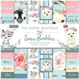 Papier scrapbooking Paper Boutique Snow Buddies 20x20 Embellissements