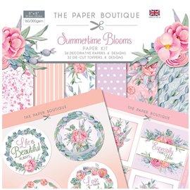Papier scrapbooking Paper Boutique Summertime Blooms 20x20 Paper kit &  die cut