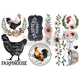 Transfert pelliculable Redesign Morning Farmhouse 15x30cm
