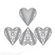 Dies découpe gaufrage Spellbinders Heart Melange Doily Dies (S4-1060)