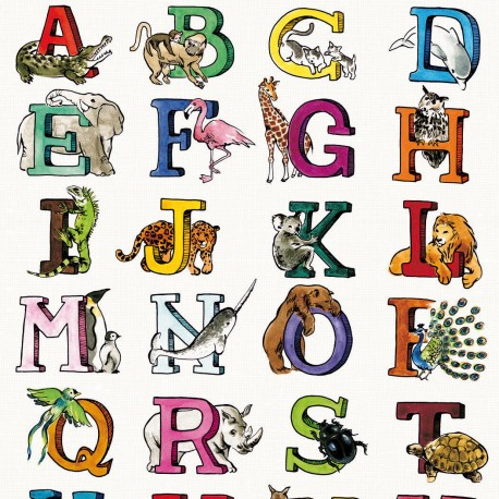 Feuilles décopatch alphabet animaux d'afrique