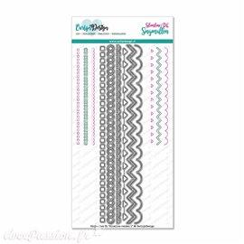 Dies découpe gaufrage CarlijnDesign Cutting dies Slimline Edges 1 (CDSN-0060)