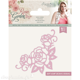 Dies découpe gaufrage Crafter's Companion Rose Garden Metal Die Rose Corner (S-RGA-MD-ROCO)