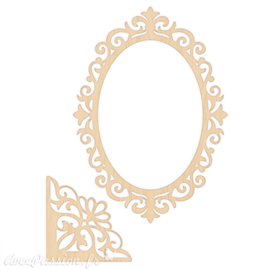 Chipboard bois Crafter's Companion Rose Garden Wooden Frames and Corners (S-RGA-WOODFRAME)