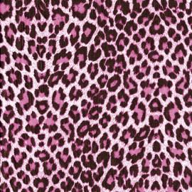 Feuilles décopatch leopard rose