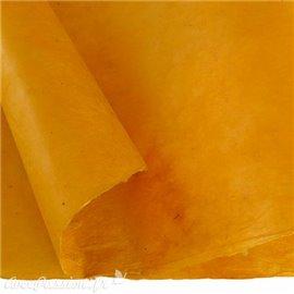 Papier népalais lokta lamaLi jaune bouton d'or