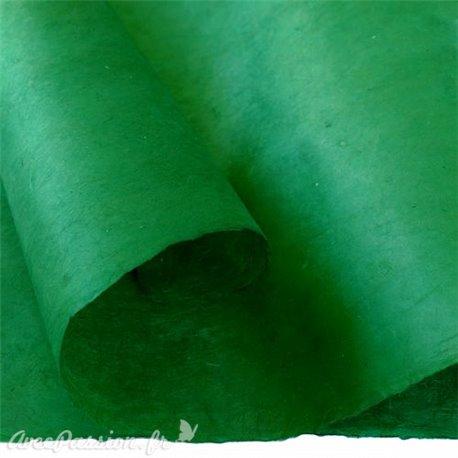 Papier népalais lokta lamaLi vert forêt