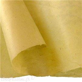 Papier népalais lokta Lamali jaune anis