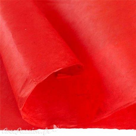 Papier népalais lokta lamaLi rouge corail