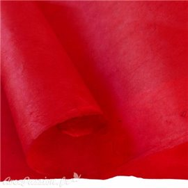 Papier népalais lokta lamaLi rouge foncé