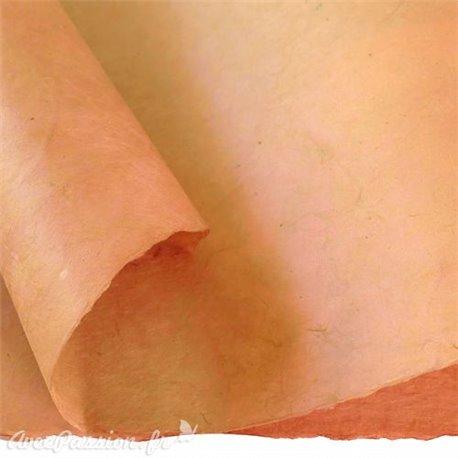 Papier népalais lokta lamaLi beige rosé