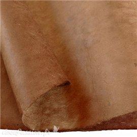 Papier népalais lokta lamaLi marron sienne -