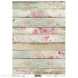Papier de riz planches de bois A4