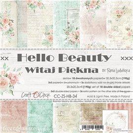 Papier scrapbooking Craft O Clock Hello Beauty 12fe assortiment 20x20