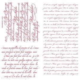 Tampon Redesign Decor Stamps Vintage Script 30,5x30,5cm - 3 pièces