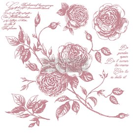 Tampon Redesign Decor Stamps Romance Roses 30,5x30,5cm - 6 pièces
