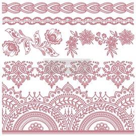 Tampon Redesign Decor Stamps Bohemian Florals 30,5x30,5cm - 6 pièces