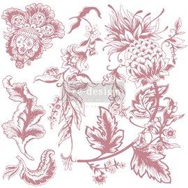 Tampon Redesign Decor Stamps Rustic Floral Elements 30,5x30,5cm - 5 pièces