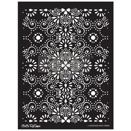 Pochoir décoratif Redesign Eastern Abstract - Collection Exclusive Cece - 45x65cm 0.8mm