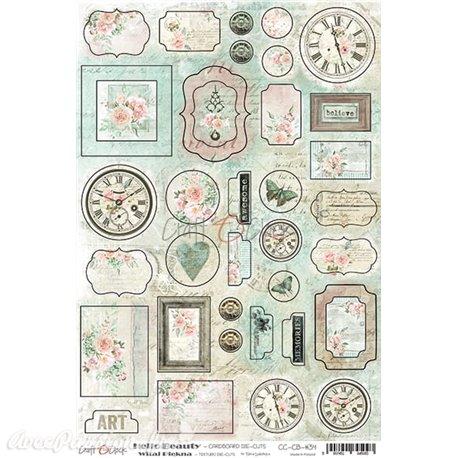 Papier scrapbooking Craft O Clock Hello Beauty CARDBOARD DIE-CUTS