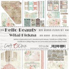 Papier scrapbooking Craft O Clock Hello Beauty Junk journal extra set