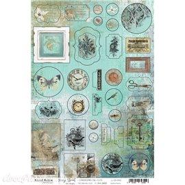 Papier scrapbooking Craft O Clock Hazy Street CARDBOARD DIE-CUTS