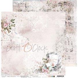 Papier scrapbooking Craft O Clock Love Me Forever 06 - 30x30 réversible