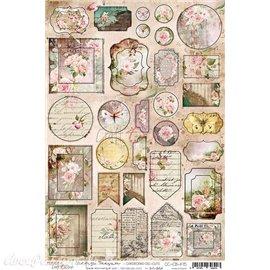 Papier scrapbooking Craft O Clock Vintage Treasure CARDBOARD DIE-CUTS
