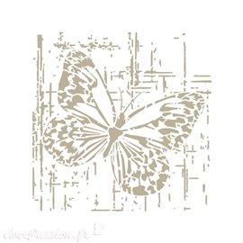 Pochoir décoratif 131M Papillon 18 x 18 cm - Design is 15 x 15 cm