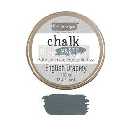 Pâte de texture colorée Chalk Paste Redesign Grise English Drapery